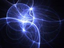 Λαμπρός fractal Ιστός στο σκοτάδι διανυσματική απεικόνιση