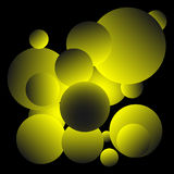 Λαμπρό κίτρινο σχέδιο υποβάθρου σφαιρών απεικόνιση αποθεμάτων