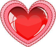 λαμπρό κόκκινο καρδιών Στοκ Εικόνα