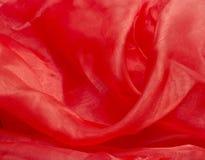 Λαμπρό κόκκινο ύφασμα σατέν Στοκ φωτογραφία με δικαίωμα ελεύθερης χρήσης