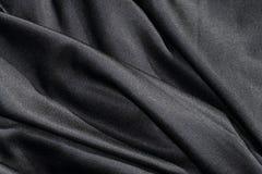 Λαμπρό μαύρο ύφασμα Στοκ Φωτογραφίες