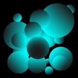 Λαμπρό μπλε σχέδιο υποβάθρου σφαιρών διανυσματική απεικόνιση