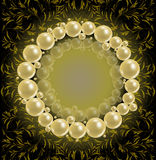 Λαμπρό πλαίσιο μαργαριταριών Στοκ φωτογραφία με δικαίωμα ελεύθερης χρήσης