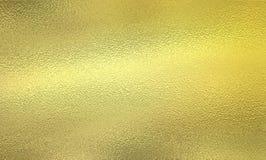 Λαμπρό χρυσό μεταλλικό φύλλο αλουμινίου Στοκ Φωτογραφίες