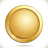 Λαμπρό χρυσό νόμισμα απεικόνιση αποθεμάτων