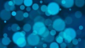 Λαμπρό bokeh στο μπλε χρώμα ελεύθερη απεικόνιση δικαιώματος