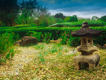 Λαμπτήρας βράχου στον κήπο Στοκ Εικόνες
