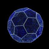 Λαμπτήρας γιρλαντών ποδόσφαιρο-σφαιρών που απομονώνεται στο Μαύρο Στοκ Εικόνα