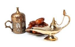 Λαμπτήρας και ημερομηνίες Aladdin μαγικός Στοκ Εικόνα