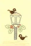λαμπτήρας καρτών πουλιών π&omi Διανυσματική απεικόνιση