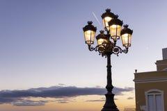 Λαμπτήρας οδών στο ηλιοβασίλεμα στοκ εικόνες με δικαίωμα ελεύθερης χρήσης