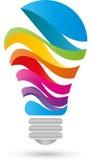 Λαμπτήρας, που χρωματίζεται, λαμπτήρας πολλών χρωμάτων απεικόνιση αποθεμάτων