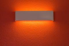 Λαμπτήρας τοίχων με την ελαφριά σκιά Στοκ Εικόνα