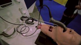 Λαρυγκοσκόπιο/εξοπλισμός anesthesiology απόθεμα βίντεο