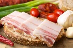 Λαρδί στο ψωμί Στοκ εικόνα με δικαίωμα ελεύθερης χρήσης