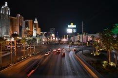Λας Βέγκας, νέες Υόρκη-νέες ξενοδοχείο της Υόρκης & χαρτοπαικτική λέσχη, η λουρίδα, Las Vegas Strip, μητροπολιτική περιοχή, δρόμο στοκ εικόνες με δικαίωμα ελεύθερης χρήσης