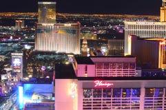 Λας Βέγκας, Νεβάδα, ΗΠΑ - 23 Ιανουαρίου 2016: Εναέρια άποψη που αγνοεί το Las Vegas Strip στοκ φωτογραφία