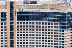 Λας Βέγκας - τον Ιούλιο του 2017 Circa: Ιδιοκτησία του Λας Βέγκας ξενοδοχείων και θερέτρων Wyndham Το Wyndham έχει τα ξενοδοχεία  Στοκ φωτογραφίες με δικαίωμα ελεύθερης χρήσης