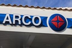Λας Βέγκας - τον Ιούλιο του 2017 Circa: ARCO λιανικό βενζινάδικο ARCO είναι μέρος της εταιρίας ΙΙ Tesoro Στοκ Εικόνες