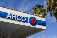 Λας Βέγκας - τον Ιούλιο του 2017 Circa: ARCO λιανικό βενζινάδικο ARCO είναι μέρος της εταιρίας ΙΙΙ Tesoro Στοκ Εικόνα