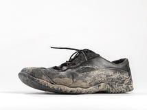 Λασπώδες και βρώμικο παπούτσι Στοκ Εικόνες
