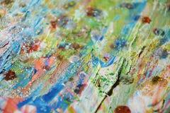 Λασπώδες πράσινο αφηρημένο υπόβαθρο σημείων κρητιδογραφιών Στοκ Εικόνες
