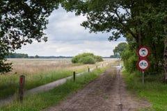 Λασπώδης δρόμος μέσω του λαντ Στοκ Εικόνες