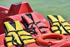 Λαστιχένια σακάκια και lifesaver Στοκ Εικόνες