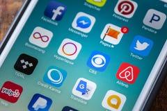 ΛΑΣ ΒΈΓΚΑΣ, NV - 22 Σεπτεμβρίου 2016 - Εικονίδιο CBS App στη Apple iPhon Στοκ Εικόνες