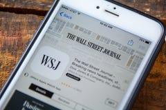 ΛΑΣ ΒΈΓΚΑΣ, NV - 22 Σεπτεμβρίου 2016 - Η Wall Street Journal iPh Στοκ Εικόνα