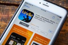 ΛΑΣ ΒΈΓΚΑΣ, NV - 22 Σεπτεμβρίου 2016 - Ο Αμαζόνιος ανάβει το iPhone App μέσα Στοκ εικόνες με δικαίωμα ελεύθερης χρήσης