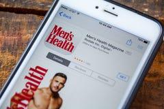 ΛΑΣ ΒΈΓΚΑΣ, NV - 22 Σεπτεμβρίου 2016 - Περιοδικό υγείας ατόμων iPhon Στοκ Εικόνες