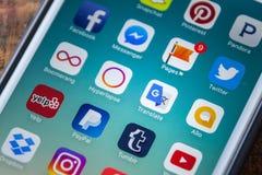 ΛΑΣ ΒΈΓΚΑΣ, NV - 22 Σεπτεμβρίου 2016 - Το Google μεταφράζει App το εικονίδιο Ο Στοκ φωτογραφία με δικαίωμα ελεύθερης χρήσης