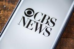 ΛΑΣ ΒΈΓΚΑΣ, NV - 22 Σεπτεμβρίου 2016 - CBS News App στη Apple iPhon Στοκ φωτογραφίες με δικαίωμα ελεύθερης χρήσης