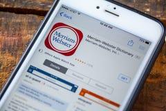ΛΑΣ ΒΈΓΚΑΣ, NV - 22 Σεπτεμβρίου 2016 - IPhone App του Merriam-Webster Στοκ Φωτογραφίες