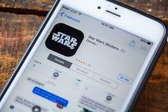 ΛΑΣ ΒΈΓΚΑΣ, NV - 22 Σεπτεμβρίου 2016 - IPhone App του Star Wars Στοκ Φωτογραφίες