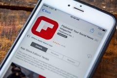 ΛΑΣ ΒΈΓΚΑΣ, NV - 22 Σεπτεμβρίου 2016 - IPhone App Flipboard Στοκ εικόνα με δικαίωμα ελεύθερης χρήσης