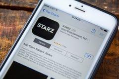 ΛΑΣ ΒΈΓΚΑΣ, NV - 22 Σεπτεμβρίου 2016 - IPhone App Starz App Στοκ φωτογραφία με δικαίωμα ελεύθερης χρήσης