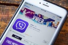 ΛΑΣ ΒΈΓΚΑΣ, NV - 22 Σεπτεμβρίου 2016 - IPhone App Viber App Στοκ Εικόνες