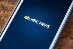 ΛΑΣ ΒΈΓΚΑΣ, NV - 22 Σεπτεμβρίου 2016 - NBC News App στη Apple iPhon Στοκ εικόνα με δικαίωμα ελεύθερης χρήσης