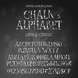 Λατινικά και κυριλλικά αλφάβητα Grunge διανυσματική απεικόνιση