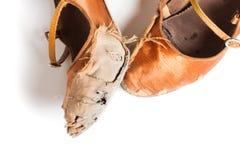 Λατινικά παπούτσια χορού αιθουσών χορού Στοκ φωτογραφία με δικαίωμα ελεύθερης χρήσης