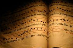 λατινικά ύμνων Στοκ φωτογραφία με δικαίωμα ελεύθερης χρήσης