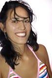 Λατινική νέα γυναίκα ομορφιάς Στοκ Φωτογραφίες