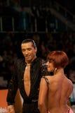 Λατινικοί χορευτές Pavel Pachechnik/Francesca Berardi Στοκ Εικόνα