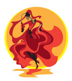 Λατινικός χορός Στοκ εικόνα με δικαίωμα ελεύθερης χρήσης