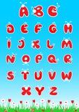 Λατινικό αλφάβητο ABC απεικόνιση αποθεμάτων