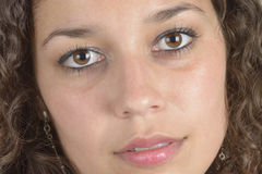 Λατινικό κορίτσι κινηματογραφήσεων σε πρώτο πλάνο Στοκ Εικόνες
