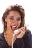λατινικό τηλέφωνο κοριτσ& στοκ φωτογραφίες