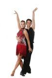 Λατινικό χορεύοντας ζεύγος Στοκ εικόνα με δικαίωμα ελεύθερης χρήσης